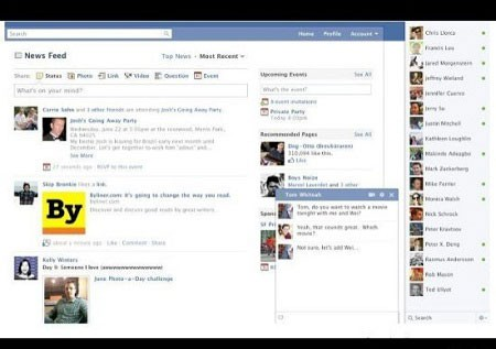 where is online chat on facebook